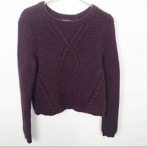 Charlotte Russe l Thick Knit Braided Sweater